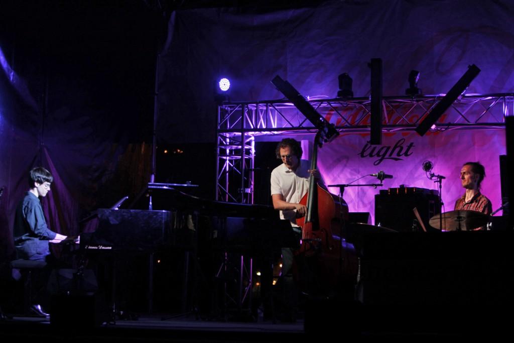 Matt Savage performs at Heineken Jazzaldia in San Sebastian, Spain